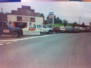 the old Wern garage, look at the price of fuel!